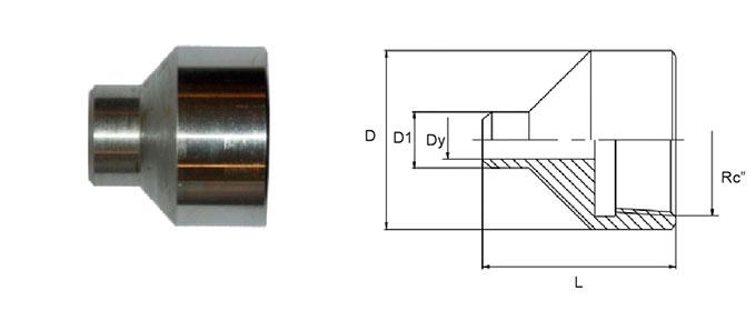Муфта переходная для соединения РВД с трубопроводом различных диаметров